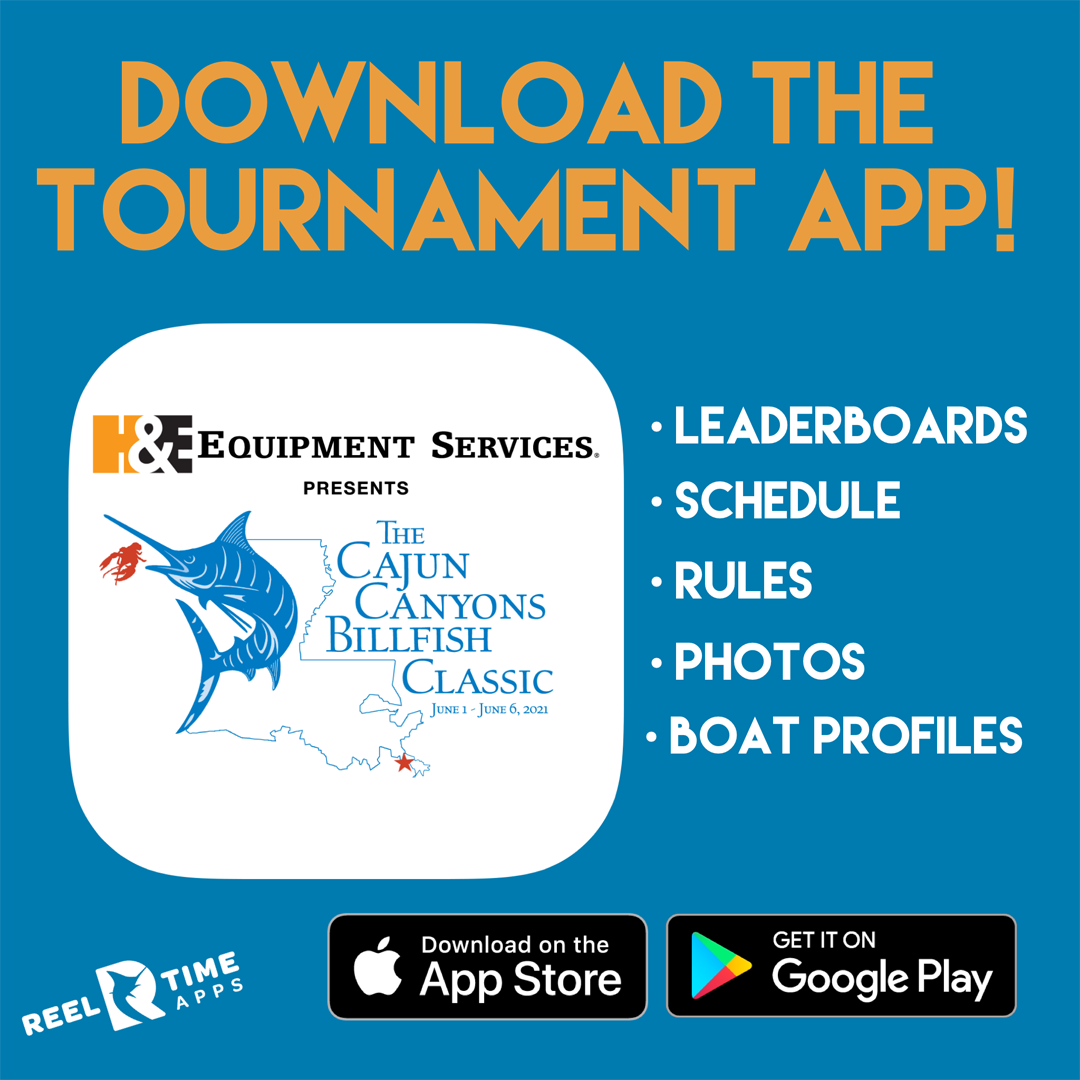 Get the Cajun Canyons Billfish Classic App