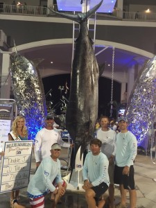Team Double J with 716 lb. Blue Marlin